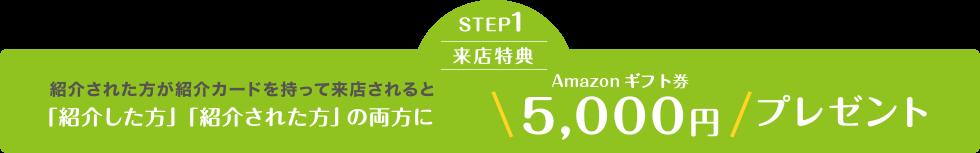 STEP1.来店特典